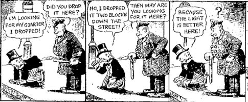 Mutt and Jeff comic strip - streetlight joke